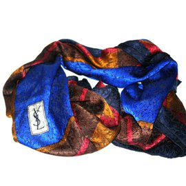 Yves Saint Laurent-Foulards-Multicolore