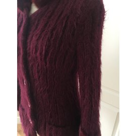 Yves Saint Laurent-Jacket-Dark red