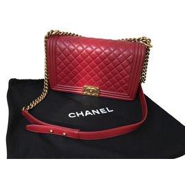 Chanel-Chanel boy bag-Red