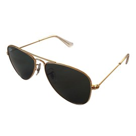Ray-Ban-Ray ban aviator gold children new brand-Golden