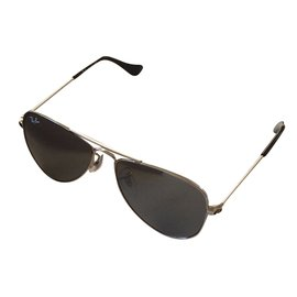 Ray-Ban-Ray ban new aviator sungalsses children's size-Silvery
