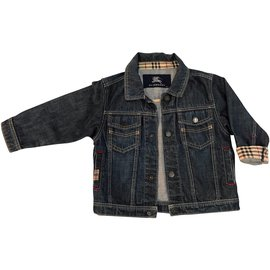 Burberry-Girl Coats outerwear-Blue