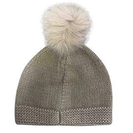Fendi-Bonnet laine fendi-Beige