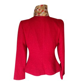 Yves Saint Laurent-Blazer rouge intense chyc-Rouge