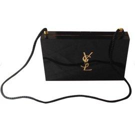 Yves Saint Laurent-Clutch beauty vernis noir ysl-Noir
