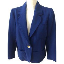 Yves Saint Laurent-Jackets-Blue