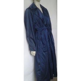 Alaïa-Trench coat-Bleu Marine