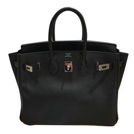 Hermès-HERMES Birkin 25-Black