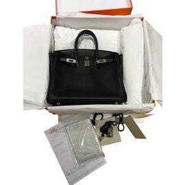 Hermès-HERMES Birkin 25-Noir