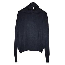 Hermès-Pull soie-Noir