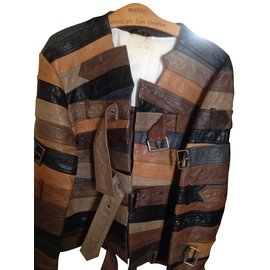 Maison Martin Margiela-Blazers Jackets-Dark brown