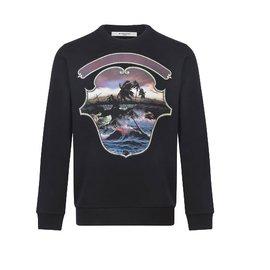 Givenchy-givenchy Hawaï printed sweatshirt-Black