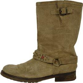 Pom d'Api-Boots-Beige