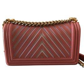 Chanel-Chanel chevron boy stripes glitter-Pink