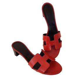 Hermès-OASIS EPSOM VERNIS-Red