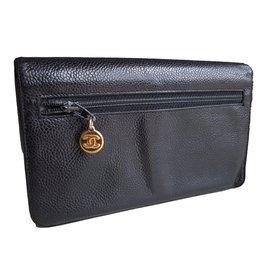 Chanel-Pochette,portefeuille-Noir