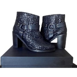American Retro-Ankle Boots-Black