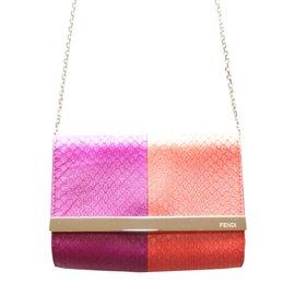 Fendi-sac pochette python-Multicolore