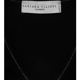 Fabiana Filippi-Pulls, gilets-Noir,Gris