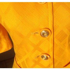 Yves Saint Laurent-Blazerchyc  bouton d'or-Jaune