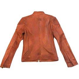 Zara-Blazers Jackets-Orange