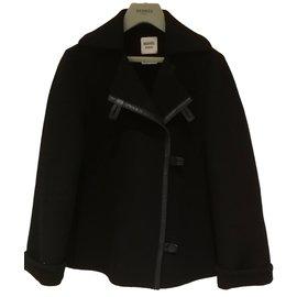 Hermès-Manteau Hermès-Noir