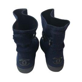 Chanel-Chanel sneakers-Bleu Marine