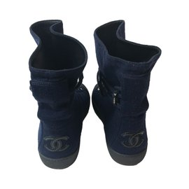 Chanel-Sneakers-Navy blue