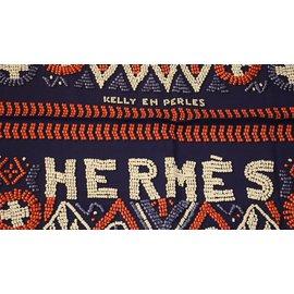 Hermès-Kelly en Perles-Navy blue