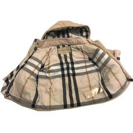 Burberry-Blousons, manteaux filles-Beige