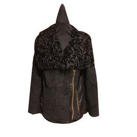Bel Air-Bel Air sublime Manteau en cuir taille 38.40 Neuf-Noir