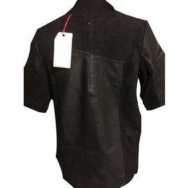 Bel Air-Bel Air Sublime top noir en cuir taille 38.40 Neuf-Noir