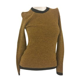 Hermès-Knitwear-Black,Yellow