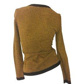 Hermès-Pulls, Gilets-Noir,Jaune
