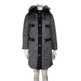Moncler-Moncler Loth tweed coat-Other