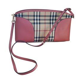 Burberry-Handbags-Pink,Beige