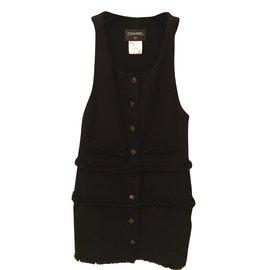 Chanel-Robe courte-Noir