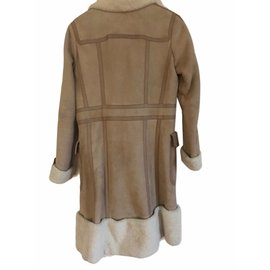 Louis Vuitton-Manteau pièce de défilé-Beige