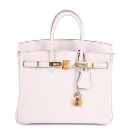 Hermès-Birkin 25 Calfskin Leather - Beton-Autre