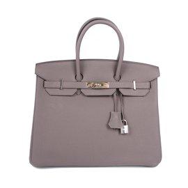 Hermès-Birkin 35 Togo Taupe-Gris