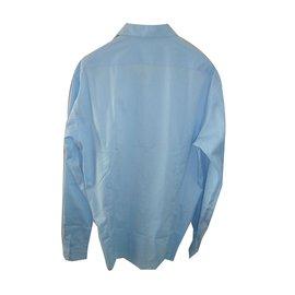 Aquascutum-Aquascutum men's slim fit stretch shirt-Blue