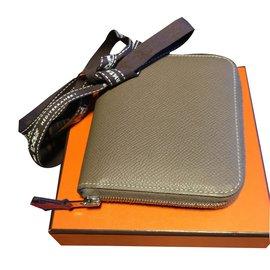 Hermès-Wallets-Taupe