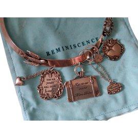 Reminiscence-collier amour et paix-Argenté