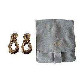 Christian Dior-Boucles d oreille clips-Doré
