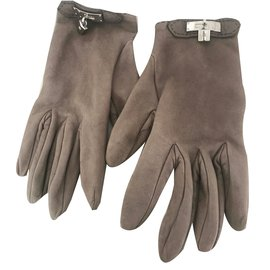 Hermès-Kelly Gloves-Olive green