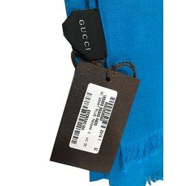 Gucci-Foulards-Bleu