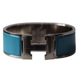 Hermès-Clic Clac en H large-Bleu