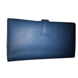 Hermès-Wallets-Blue