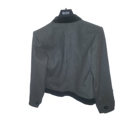 Yves Saint Laurent-Veste et pantalon-Vert