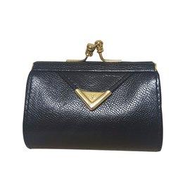 Yves Saint Laurent-porte monnaie vintage-Noir
